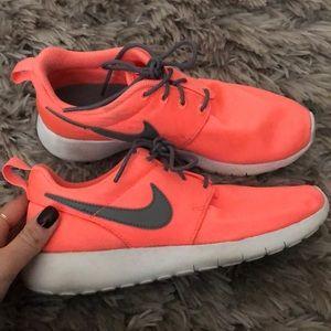 Neon pink Nike's